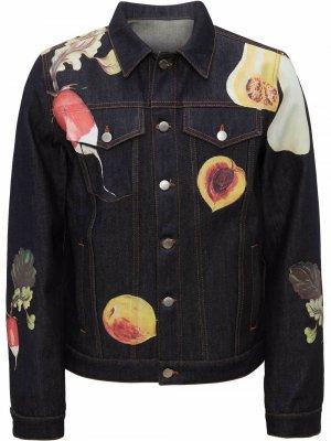 Куртка с принтом JW Anderson. Цвет: синий