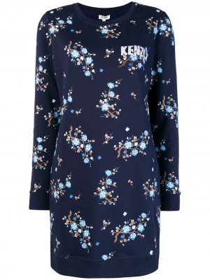 Floral print sweater dress Kenzo. Цвет: синий