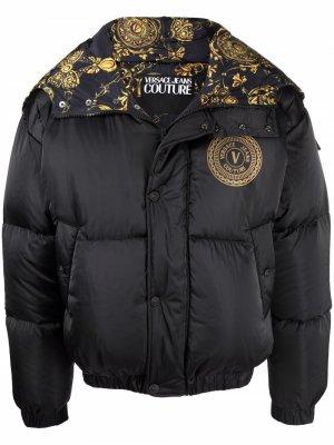 Logo-print padded jacket Versace Jeans Couture. Цвет: черный