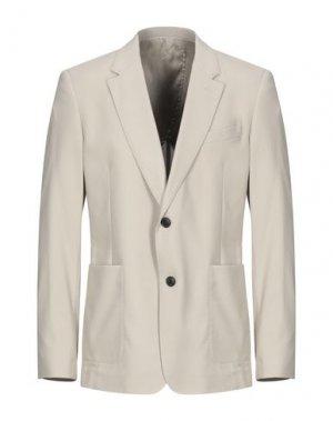 Пиджак AMI ALEXANDRE MATTIUSSI. Цвет: бежевый