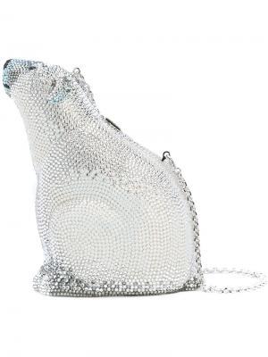 Сумка Blanc Polar bear Judith Leiber Couture. Цвет: металлический