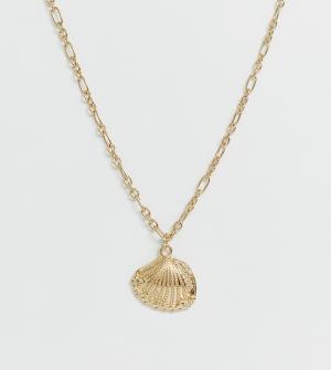 Эксклюзивное ожерелье с подвеской в виде ракушки кованой отделкой -Золотой Liars & Lovers