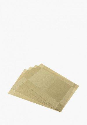Комплект салфеток сервировочных Elan Gallery. Цвет: бежевый