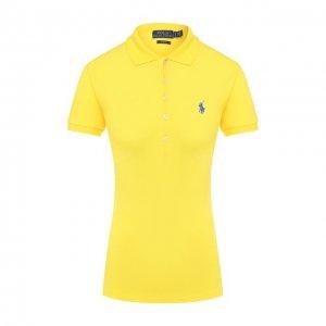 Хлопковое поло Polo Ralph Lauren. Цвет: жёлтый