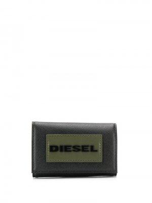 Ключница с логотипом Diesel. Цвет: черный