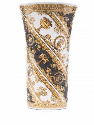 Ваза с принтом Versace. Цвет: золотистый