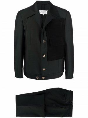 Однобортный пиджак Maison Margiela. Цвет: зеленый