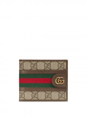 Бумажник Ophidia GG Gucci. Цвет: коричневый