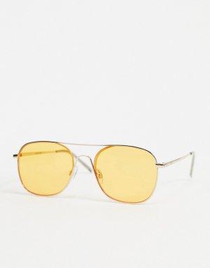 Солнцезащитные очки в стиле ретро с затмненными стеклами -Оранжевый Jack & Jones