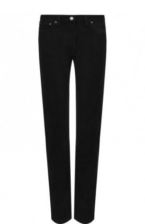 Однотонные джинсы прямого кроя Valentino. Цвет: чёрный