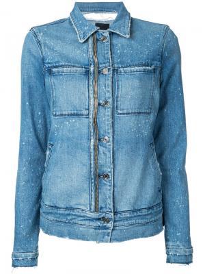 Джинсовая куртка с молниями Rta. Цвет: синий