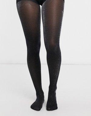 Черные колготки с блестками -Черный Gipsy