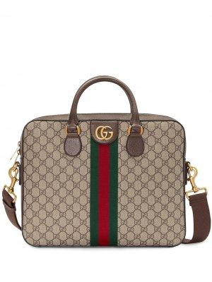 Портфель с узором GG Supreme Gucci. Цвет: нейтральные цвета