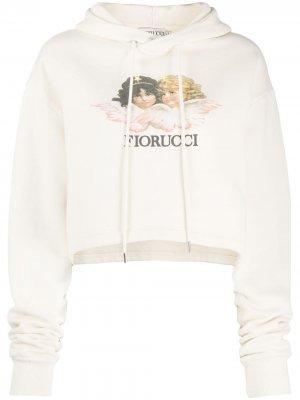 Vintage Angels cropped hoodie Fiorucci. Цвет: нейтральные цвета