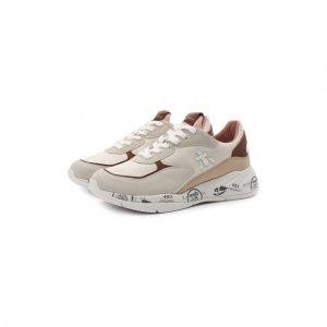 Комбинированные кроссовки Scarlet Premiata. Цвет: коричневый