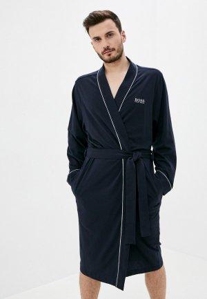 Халат домашний Boss Kimono BM. Цвет: синий