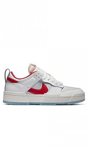 Кроссовки w nike dunk low disrupt. Цвет: red,white