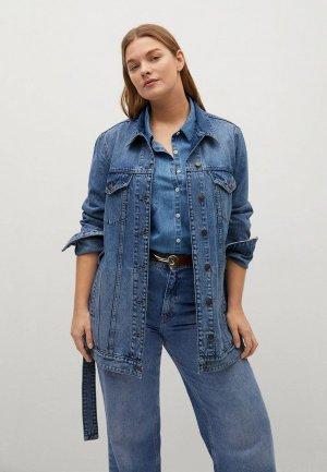 Куртка джинсовая Violeta by Mango - DESIRE. Цвет: синий