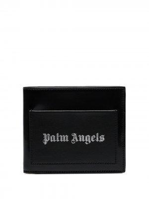 Бумажник с контрастным логотипом Palm Angels. Цвет: черный