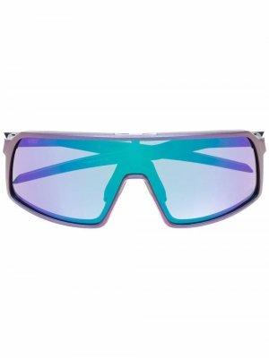 Солнцезащитные очки-маска Oakley. Цвет: фиолетовый