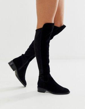 Черные замшевые ботфорты Byssa-Черный ALDO