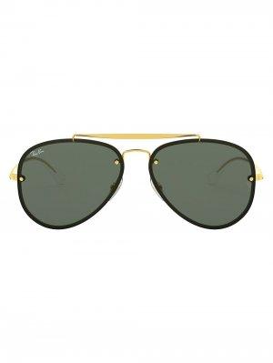 Солнцезащитные очки-авиаторы RB3584 Ray-Ban. Цвет: черный