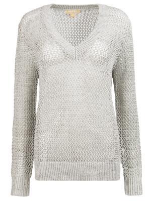 Льняной пуловер MICHAEL KORS. Цвет: серый