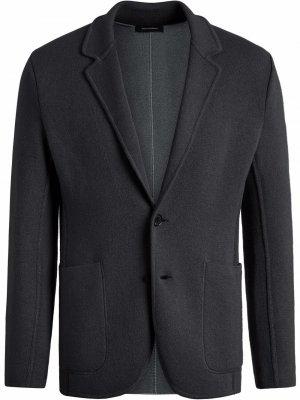 Однобортный пиджак Ermenegildo Zegna. Цвет: серый