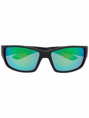 Солнцезащитные очки в квадратной оправе Maui Jim. Цвет: серый