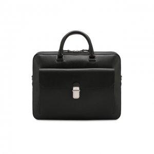 Кожаная сумка для ноутбука Dunhill. Цвет: чёрный