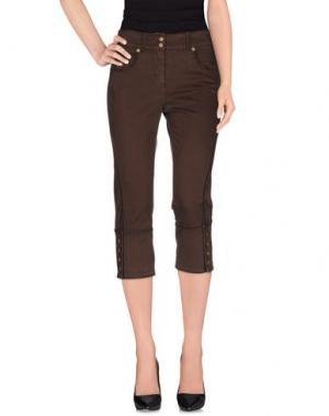 Джинсовые брюки-капри ANGELO MARANI. Цвет: темно-коричневый