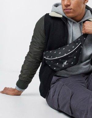 Черная сумка-кошелек на пояс с принтом -Черный New Balance