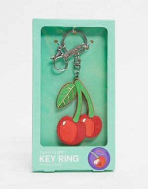 Брелок для ключей с дизайном вишни -Красный Sunnylife
