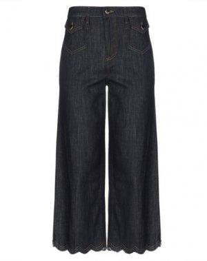 Джинсовые брюки-капри REDValentino. Цвет: синий