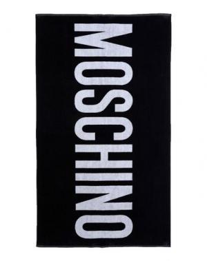 Пляжное полотенце MOSCHINO. Цвет: черный