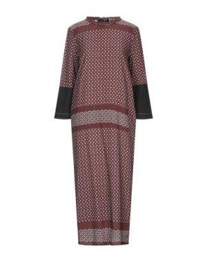 Платье длиной 3/4 HACHE. Цвет: коричневый