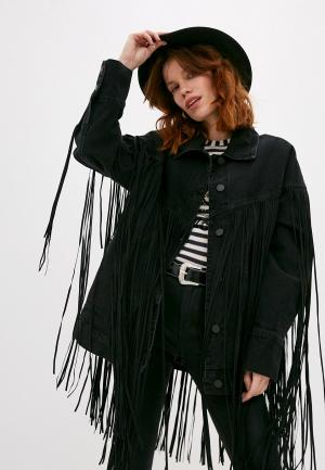 Куртка джинсовая Pinko. Цвет: черный