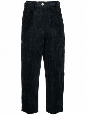 Укороченные вельветовые брюки Alysi. Цвет: синий