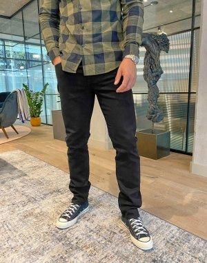 Черные эластичные джинсы узкого кроя без кромки 484-Черный J Crew