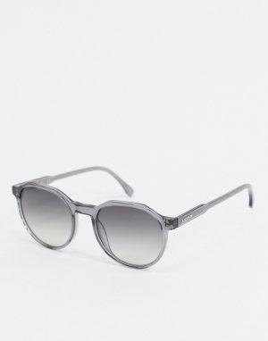 Круглые солнцезащитные очки -Серый Lacoste