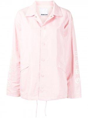 Куртка с логотипом Ground Zero. Цвет: розовый