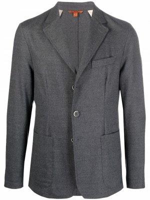 Однобортный пиджак узкого кроя Barena. Цвет: серый