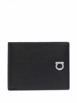 Бумажник с декором Gancini Salvatore Ferragamo. Цвет: черный