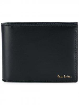 Бумажник с отделкой в полоску PAUL SMITH. Цвет: черный