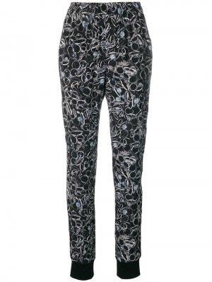 Зауженные брюки с принтом A.F.Vandevorst