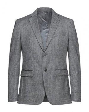 Пиджак DOLCE & GABBANA. Цвет: свинцово-серый