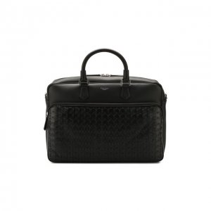 Кожаная сумка для ноутбука Serapian. Цвет: чёрный