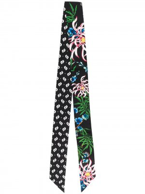 Повязка на голову с цветочным принтом Kenzo. Цвет: черный