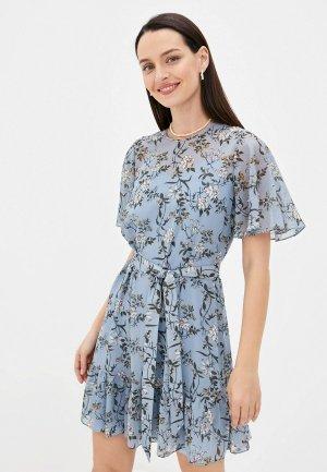 Платье и комбинация Belucci. Цвет: голубой