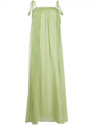 Платье с квадратным вырезом Alysi. Цвет: зеленый